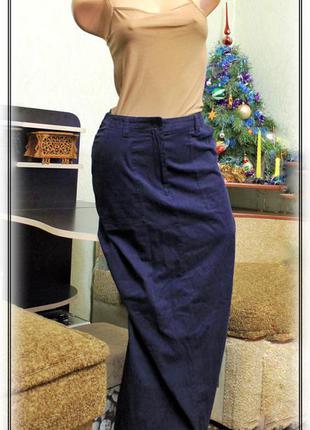 Стильная,прямая,длинная юбка с карманами,р.m