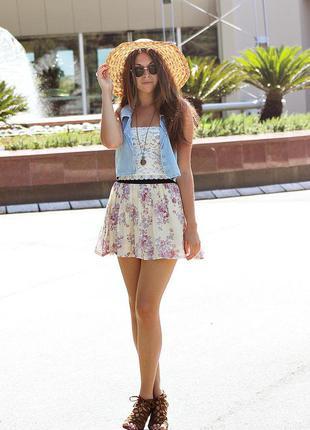 Шифоновая юбка topshop