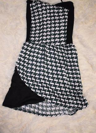 Платье motel с узором гусинная лапка . интересный крой