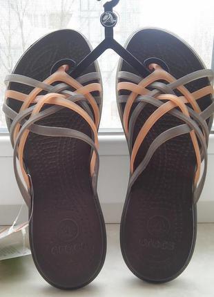 Шлёпанцы крокс crocs huarache flip flops ladies
