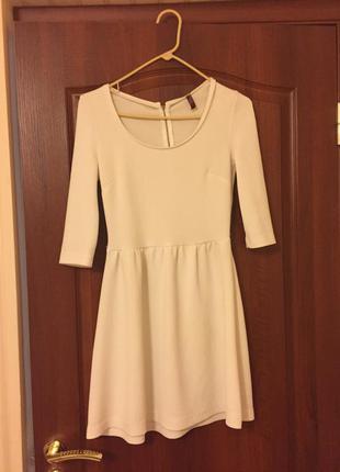Белое платье зимнее, тёплое bershka