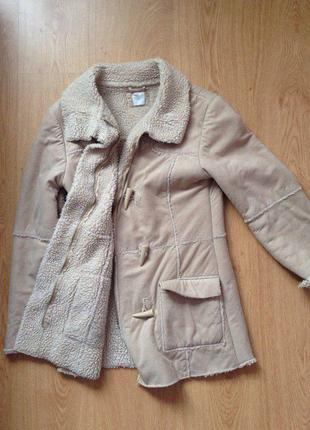Искусственная дубленка, пальто с  искусственный мехом, кожух