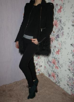 Роскошное шерстяное пальто 2в1 с отстегивающимся мехом
