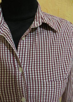 Женская рубашка в клетку topshop