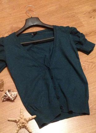 Красивая кофта кардиган изумрудный цвет бренд   topshop / m