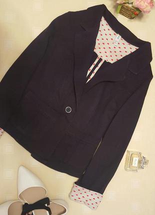 Баклажановый (темно-фиолетовый) пиджак/жакет с регулируемыми рукавами
