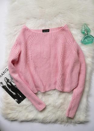 Стильный короткий свитер topshop размер s-м
