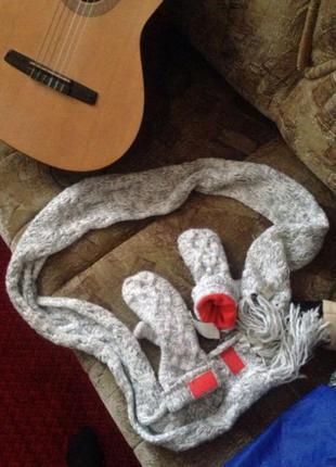 Набор варежки и шарф adidas