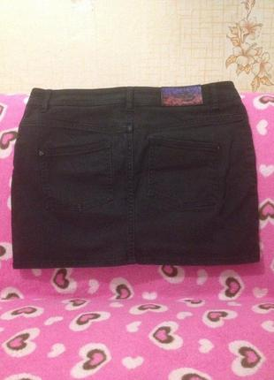 Джинсовая черная юбочка