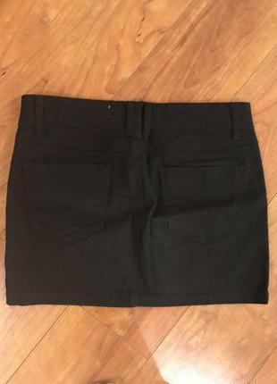 Черная юбка stradivarius