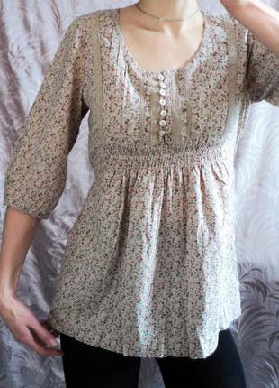 Легкая блуза-рубашка на завязках