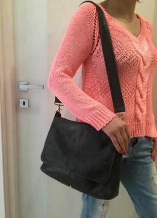 Кожаная сумка, 100 % кожа