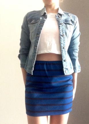 Полосатая юбка bershka