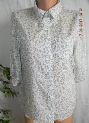 Супер легкая натуральная рубашка с принтом f&f