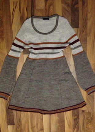 Тёплое вязаное платье, р. 36-38