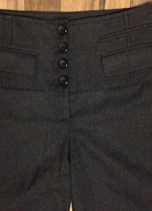 Тёплые шорты, капри, бриджи, костюмная ткань, р.36