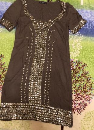 Платье с-л оливкового цвета