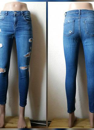 Стильные джинсы с дырками s