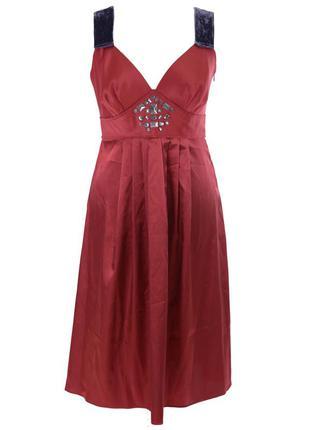 Красное вечернее платье  vera wang
