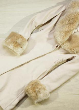Пальто с  мехом miss selfridge