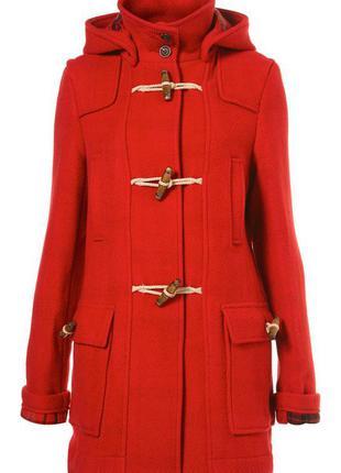Теплое шерстяное пальто дафлкот