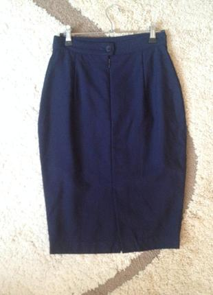 Шерстяная юбка-карандаш от artigiano италия