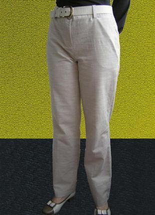 Ms mode nederland, женские льняные брючки, 50-52 рр оригинал!