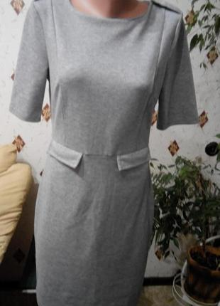 Платье футляр с карманчиками , цвет меланж