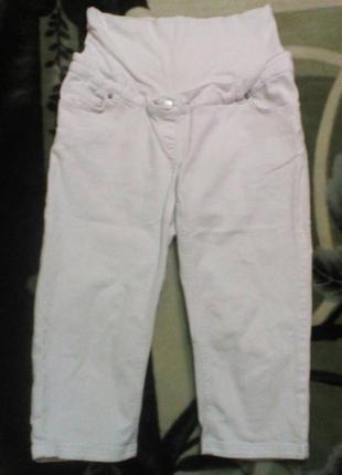 Белые бриджи для беременных jojo maman bebe размер 10 турция