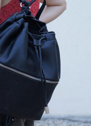 Кожаный рюкзак zara