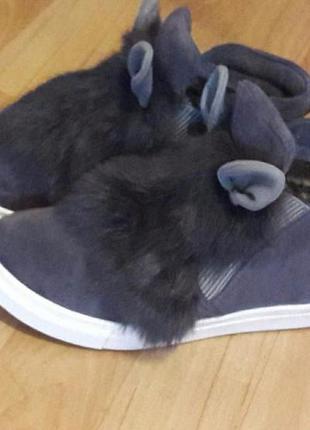 Прикольные замшевые ботинки