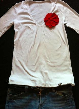 Фирменная белая кофточка,блузочка marc cain(германия)+подарок ремень