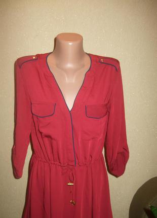 H&m оболденное платье,актуального цвета марсала