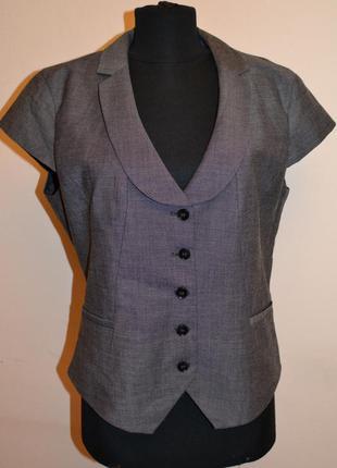Большой выбор юбок и жакетов, классический жилет с коротким рукавом бренд h&m