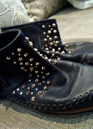 Кожаные ботиночки zara