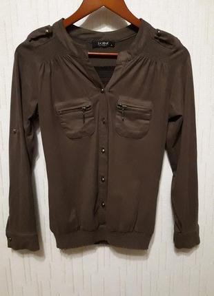 Блуза из иск.замши