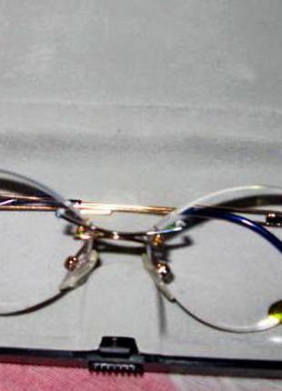 Очки для зрения,полимер.линзы,на винтах+3.75,рмц-61 нов.или оправа.