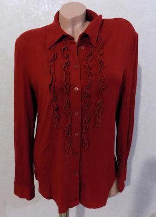 Блузка рубашка кофта на пуговицах фирменная с рюшами размер 50-52
