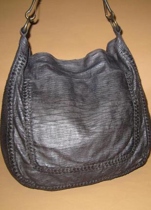 Большущая брендовая сумка all saints натуральная кожа hobo английский бренд.