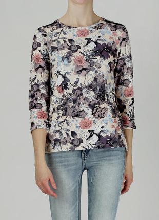 Актуальный свитшот в цветочный принт под джинсы размер 52-58