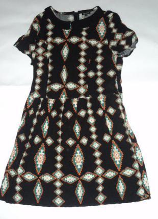 Сукня в орнамент з комірцем