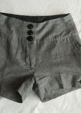 Классические серые шорты з карманами фирми only