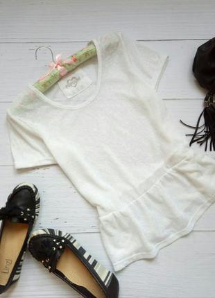 Обворожительная блузка с баской, футболка atmosphere