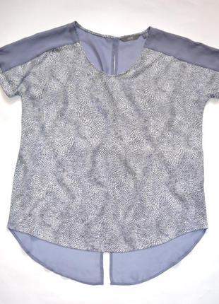 Комбинированная,оригинальная блузка из двух видов ткани , бренд next