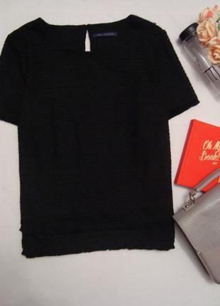 Оригинальная фактурная блуза с небольшой бахромой marks & spencer