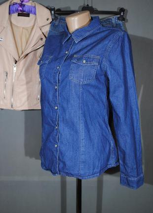 Темно-синяя джинсовая рубашка george размер s