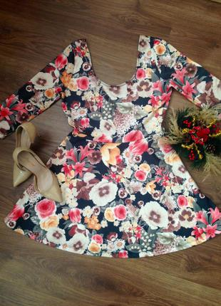 Платье солнце-клёш от известного бренда stradivarius