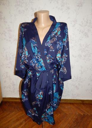 New look комплект атласный халатик + майка + штанишки рм