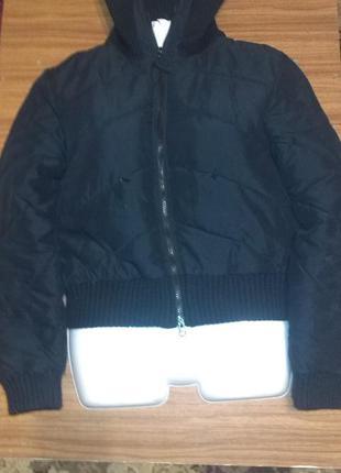 Классная куртка черная 44размер space