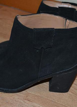 Стильные ботинки zara нат.замша